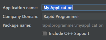 """Include C++ Support"" checkbox is visible"